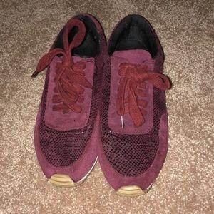 Unique maroon sneakers!!!